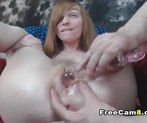 Pink Tight and Wet Teen Pussy Toying