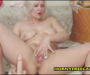 Blonde German Milf Loves Double Penetration