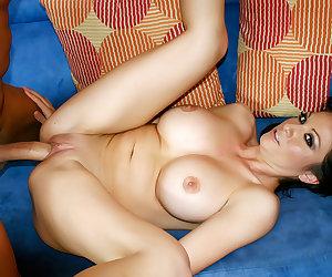 Sexy brunette MILF loves taking cock