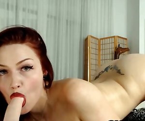 Redhead Doing Intensive Blowjob