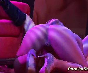 crazy lesbian sex show on public stage
