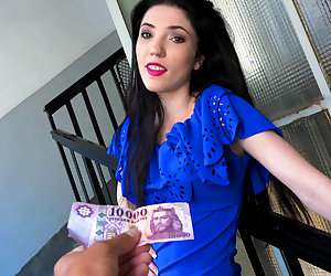 Raven Haired Euro Chick Gets Banged