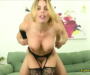 Big Ass Blonde in Stockings