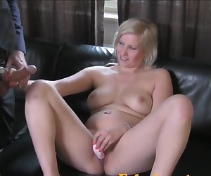 FakeAgent Busty blonde's dangerous tight pussy makes cum quick
