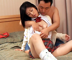 Naughty brunette, Aya Seto is having an exciting day