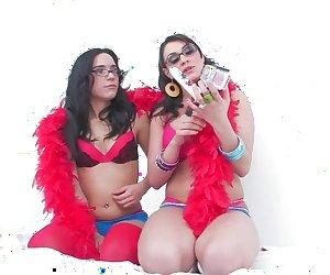 Fun BTS Of A Dildo Cam Lesbian Scene