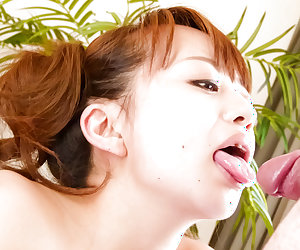 Hazuki Okita sure loves cock in her nice mouth