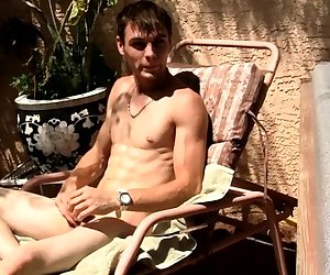 Hung Uncut Stroking In The Sun! - Adam Hess