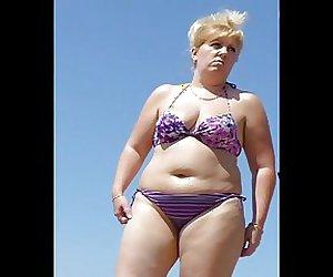 Russian Sexy Mature in the beach! Amateur voyeur!