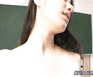 Asian small titty babe getting fucked in school