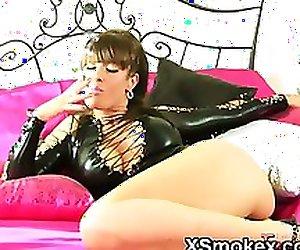 Vibrant Gal Smoking Porno XXX
