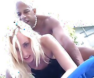 Kelly Wells interracial anal with Shane Diesel and co