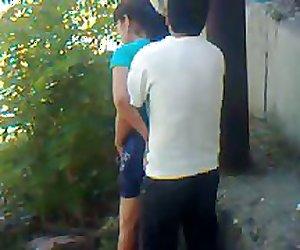 Uzbek young couple outdoor - Khwarezm