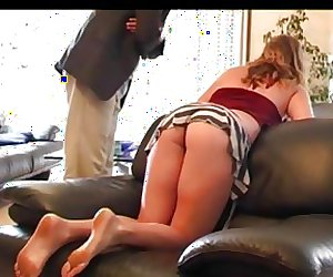 sPANKED FOR BEING LATE
