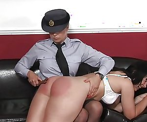Flight Officer Spanked Hard