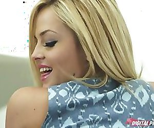 Big-ass busty blonde slut is spanked & then fucked hard to orgasm