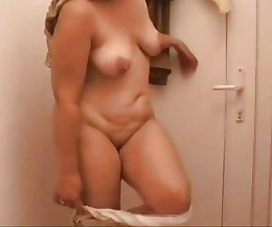 Fatma Strip fat naked mom meaty full shaved pussy
