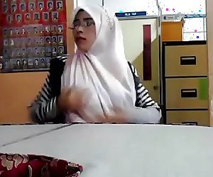 Nice Pair of Brown Tits malaysian hijab