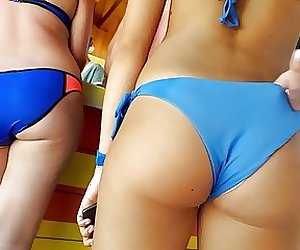 only teen girl with perfect round  butt in bikini