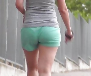 Awesome Butt In Green Shorts