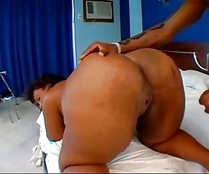 Big black brazilian with a huge big black ass anal
