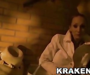 Krakenhot Daniela Evans in a exclusive BDSM submission scene