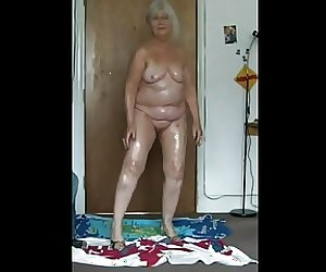 Oily 68 year old Fat Slapper