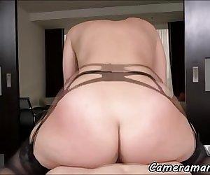 Bigass babe pov banged by big cock
