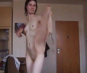 Claudia Odenweller nach dem Duschen