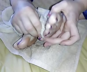 Best Friend Lunch Break Purple Toes Part 3 (cum clean up)