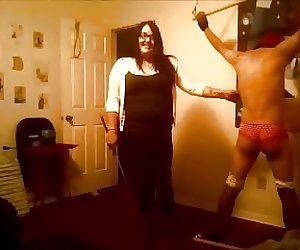 cfnm bdsm whipping caning ball kicking anal plugged panties