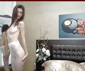 Girl puts on pantyhose at home 13 (YST)