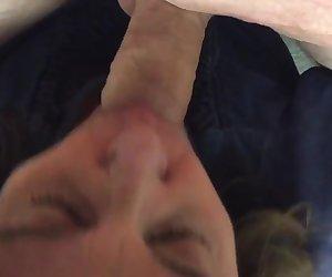 Backroom blowjob