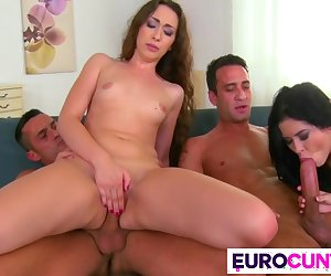 Tight euro cunts get stretched